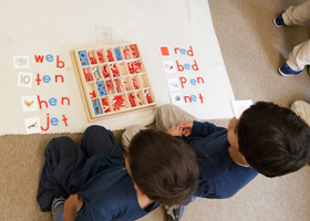 kids learning their alphabet